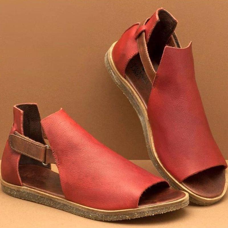Sandalias de verano a la moda de COOTELILI, sandalias exteriores para mujer, zapatos de playa, zapatos planos para mujer, sandalias de verano, zapatos planos