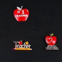 fashion alloy apple brooch creative enamel brooch badge collar pin teachers day gift jewelry accessories