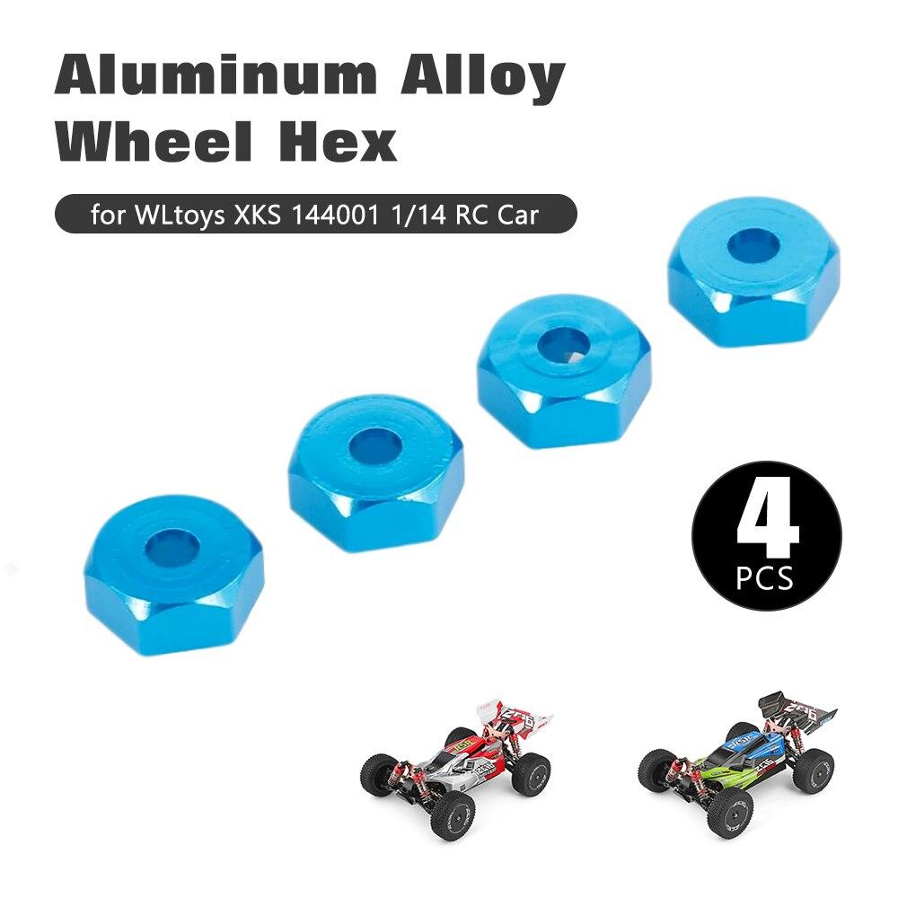 4pcs Aluminum Alloy Hub Hex Coupler Wheel Hex for 144001 RC Buggy Racing Car
