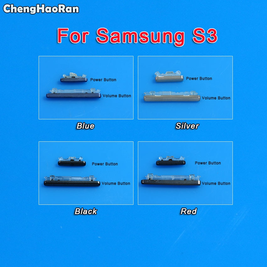ChengHaoRan para Samsung Galaxy S3 I9300 I9305 I535 I747 T999 teléfono carcasa chasis volumen botón Encendido medio marco lateral llave