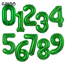 1 stücke 32 zoll grün anzahl digital 0 12 3 4 5 6 7 8 9 folie ballon 2020 neue jahr hochzeit geburtstag party festival dekoration globs