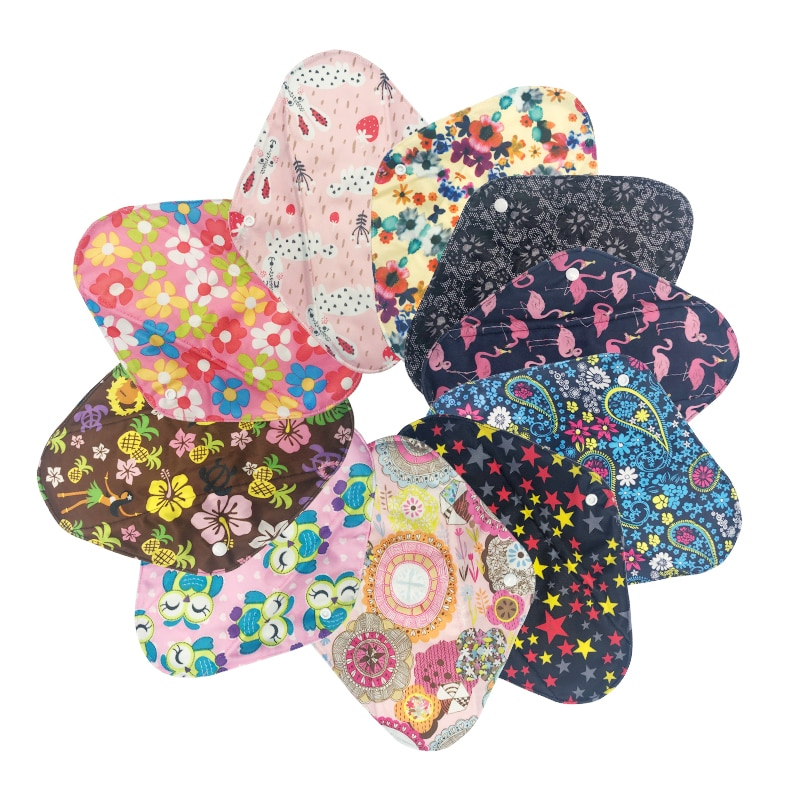 [Mumsbest] 10PC Sanitary Towel Feminine Pads Reusable Sanitary Bamboo Charcoal Print Color Menstrual Pads Panty Liners By Random sanitary towels with wings always ultra sensitive super plus size 3 16 pc female sanitary pads always a feminine sanitary napkin always gasket gaskets gigienicheskieprokladki gigienicheskayaprokladka feminine h