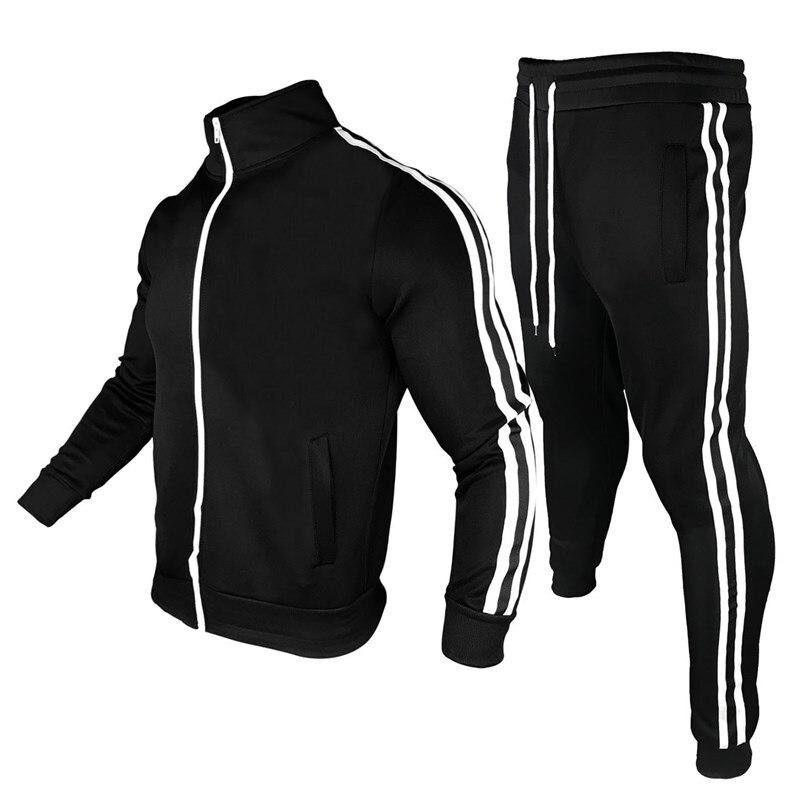 Track suit Mens 2piece set Men Sports Wear Fashion Colorblock Jogging Suit Men Outfits Fitness CLoth