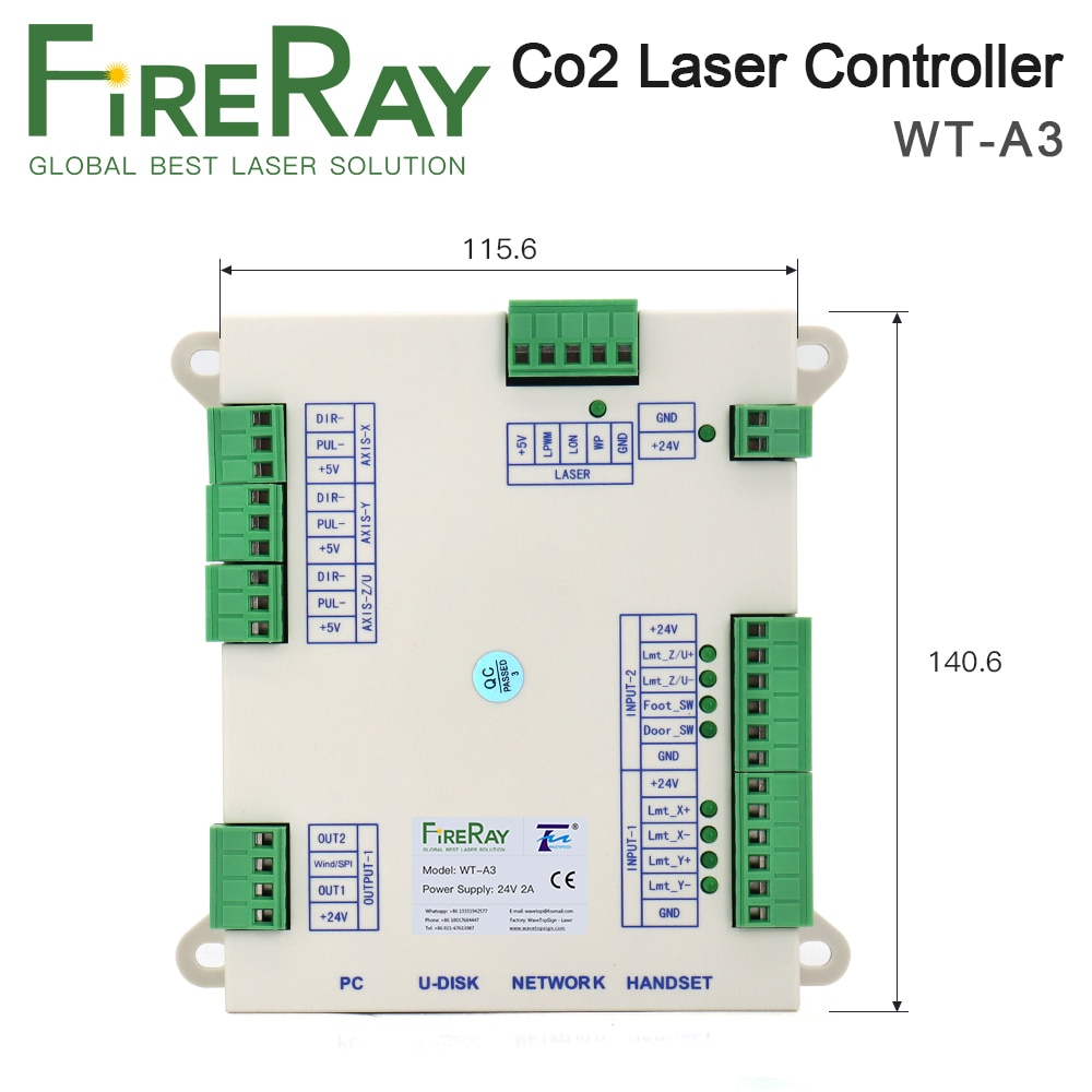 FireRay Co2 Laser Controller System WT-A3 for Co2 Laser Engraving Cutting Machine Replace AWC708C Lite ruida Leetro enlarge