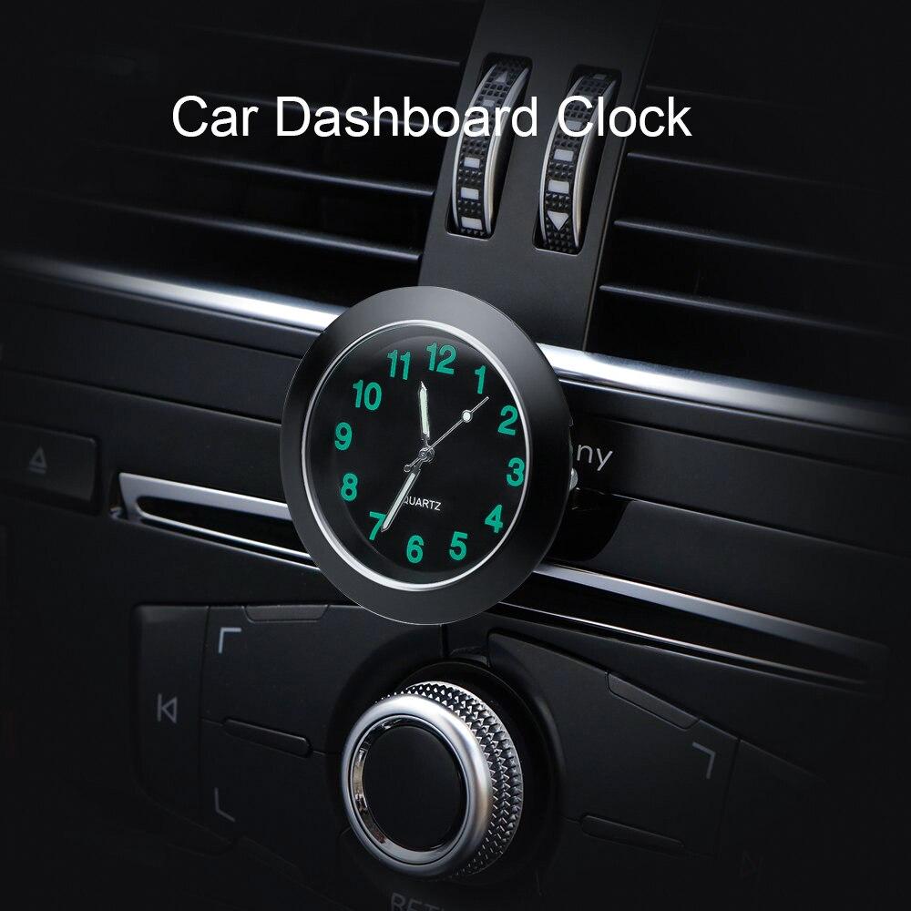Salida de aire para coche, reloj de cuarzo luminoso para Mitsubishi Mirage ASX Outlander Lancer Pajero Eclipse Grandis FORTIS Zinger