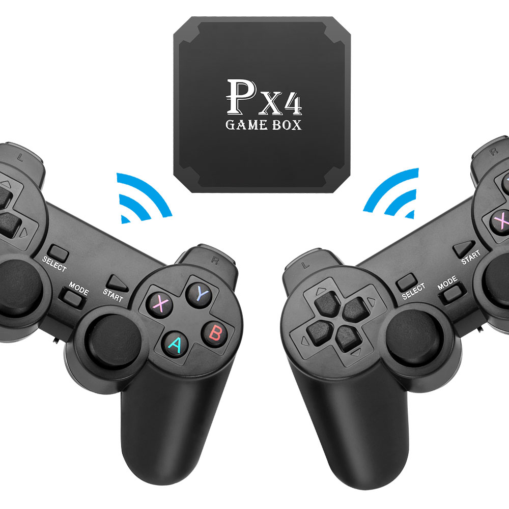 PX4 Video Game Console Full HD TV Box Retro Game console Built-in 3000+ Games 2.4g Support wifi Wireless Gamepad