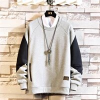 japan style casual o neck 2021 new arrived hoodie sweatshirt men thick fleece style hip hop high streetwear clothing