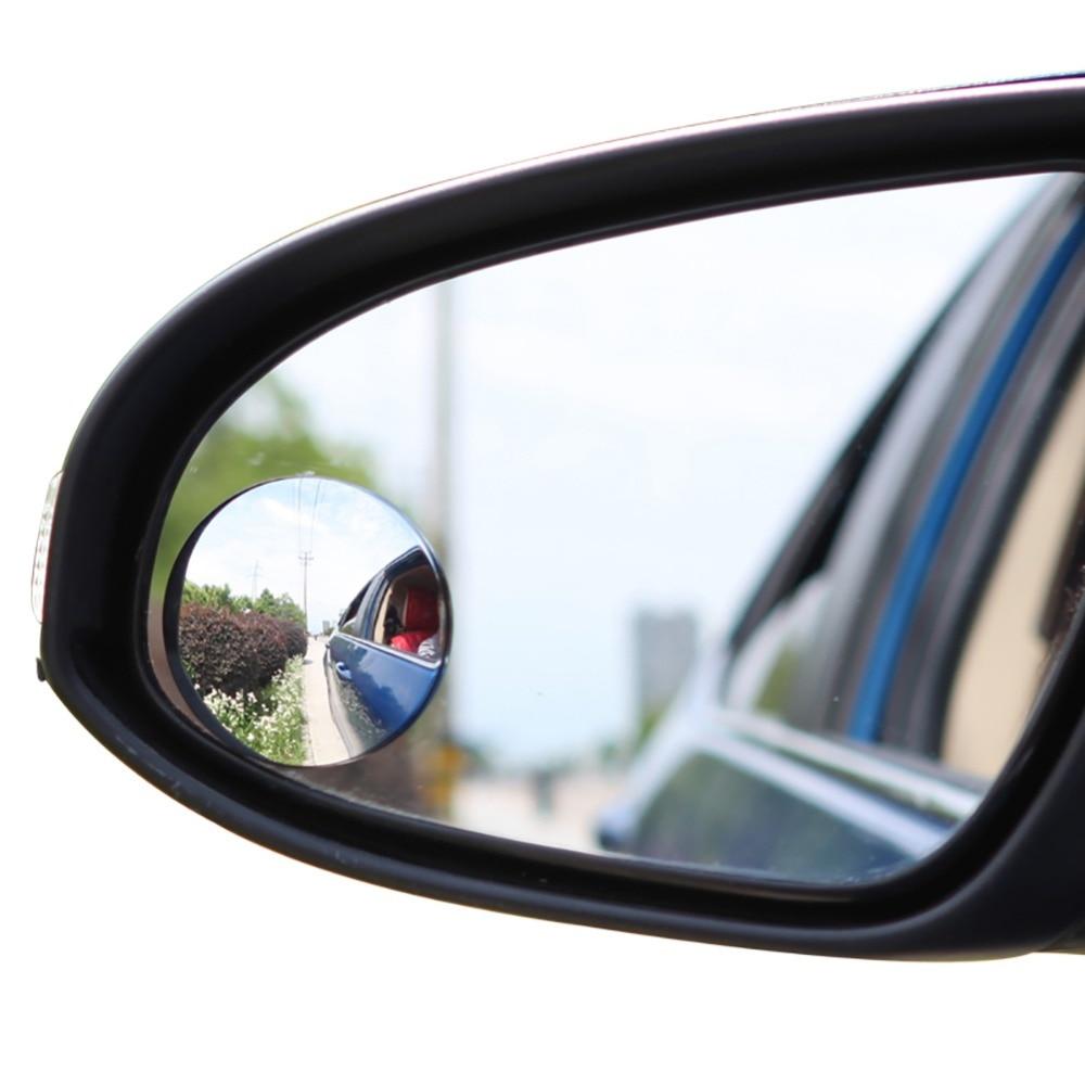 1 Uds. Material ABS de 2 pulgadas, espejos retrovisores redondos de punto ciego para coche, espejo convexo redondo de gran angular, estilo Universal para coche