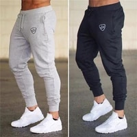 2020 new running sweatpants men joggers cotton pants gym men pants sport skinny printing sportswear long trousers large size 4xl