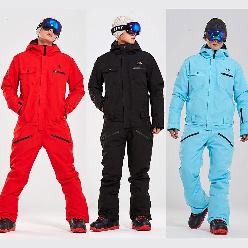 بدلة تزلج للرجال النساء الشتاء يندبروف مقاوم للماء بدلة تزلج دافئة الذكور الإناث التزلج والتزلج الثلوج تزلج سترة السراويل