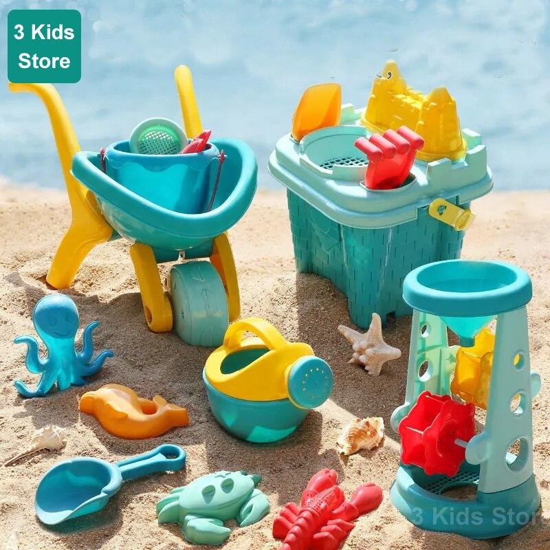 kids sand Beach Toys For Kids Play Water Toys Sand Box Set Kit Sand Table Sand et Summer Toys for Beach Play Sand Water Game Play Cart