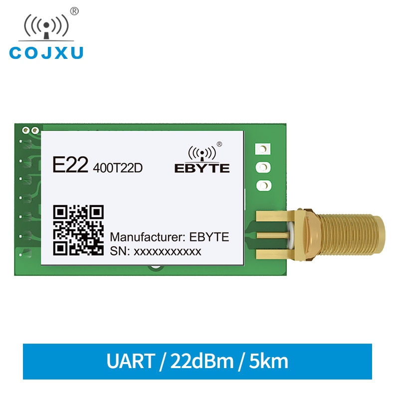 SX1268 New LoRa Module RF 433MHz Relay IoT Module 22dBm Networking UART Interface E22-400T22D LongRange Transmitter and Receiver