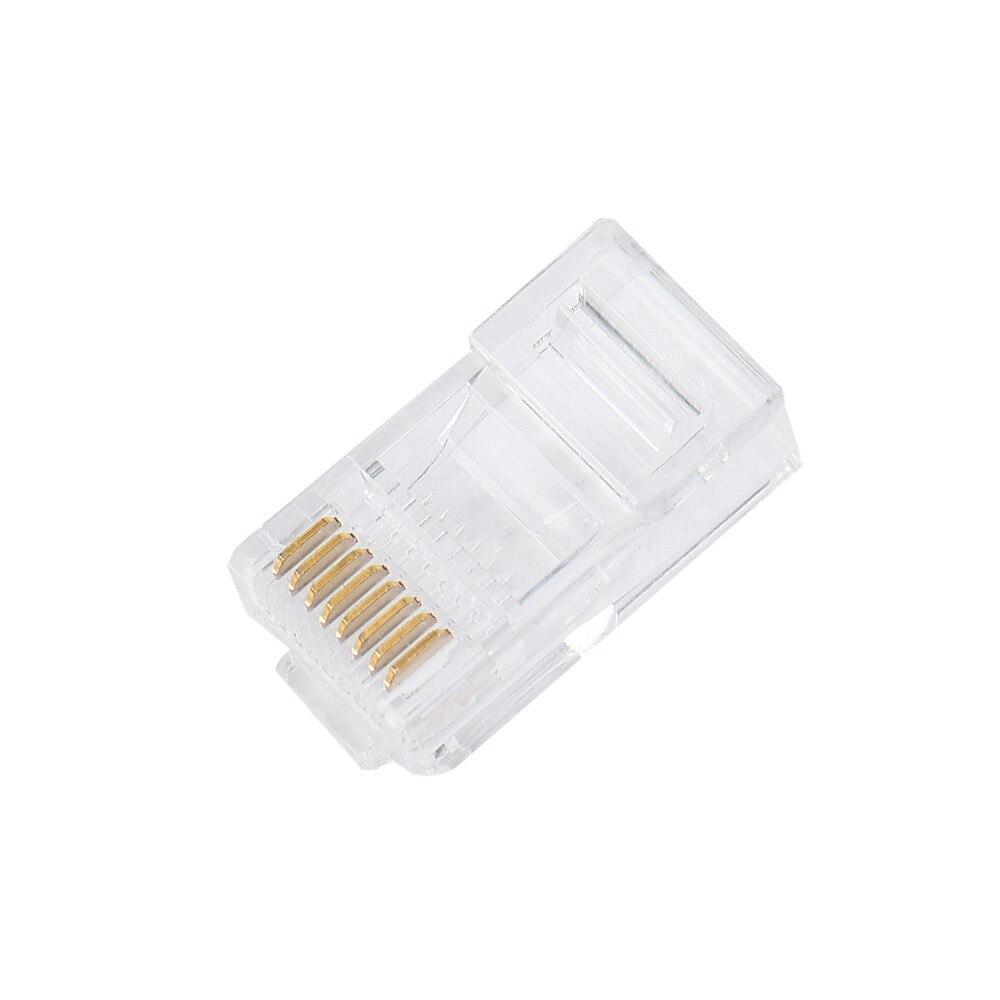 Conector de red Cat5 Cat5e, Cable de Metal rj45, terminales de enchufe...