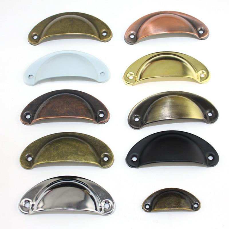 Retro Metal Kitchen Drawer Cabinet Door Handle And Furniture Knobs Handware Cupboard Antique Brass Shell Pull Handles Wholesale