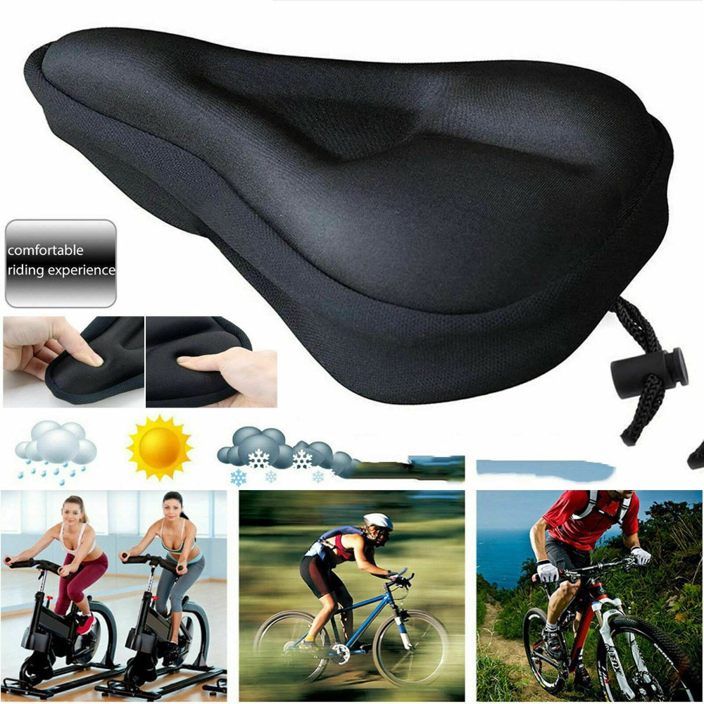 Bicycle Outdoor Riding Equipment Seat Cover Mountain Bike Straight Groove Seat Cover 3D Thickened Sponge Seat Cover Saddle Cushi