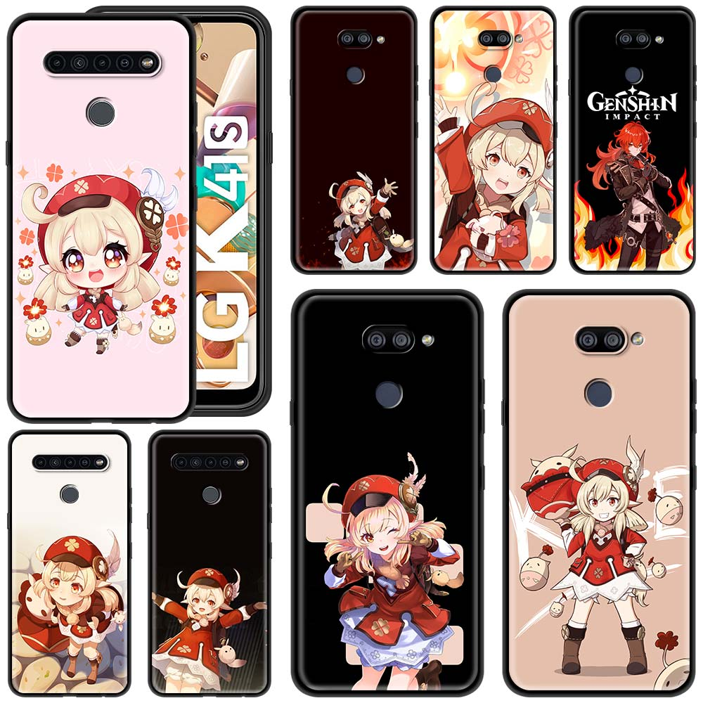Geshin impact klee Silicone Case for LG K40 K40s K41s K42 K50 K50s K52 K61 K71 LG G6 G7 G8 ThinQ Smart Phone Cover Coque Shell