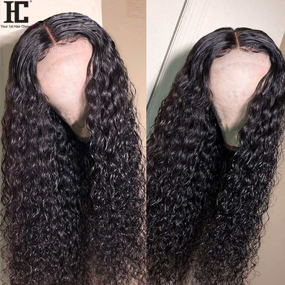Brazilian Curly Human Hair Wig Remy 13x1 Lace Part Human Hair Wigs With Baby Hair Pre Plucked 150% Glueless Lace Front Wig