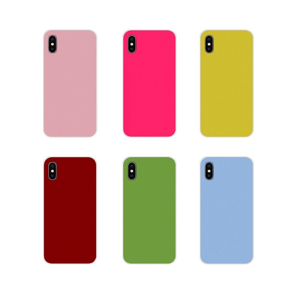 Accessoires coques de téléphone couvre couleur unie pour Motorola Moto X4 E4 E5 G5 G5S G6 Z Z2 Z3 G G2 G3 C Play Plus