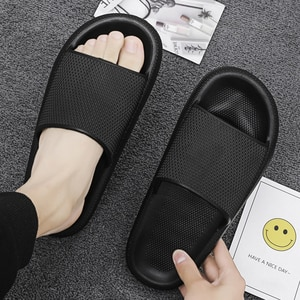 Bathroom Slippers Female EVA Non-slip Summer Slippers Platform Soft Unisex Indoor Slippers Household Solid Casual Shoes Woman