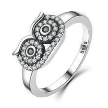 RBNYD 2020 nouvelle femme mode argent couleur clair mignon hibou bague pour femme mariage fiançailles bijoux vacances cadeau