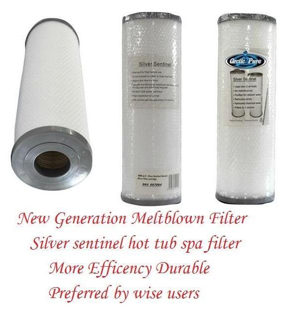 Arctic Spa-مرشح Sentinel من الفضة النقية ، موديلات 2008 وأتقدم ، 33.5 سنتيمتر × 12.5 سنتيمتر ، مرشح دارلي