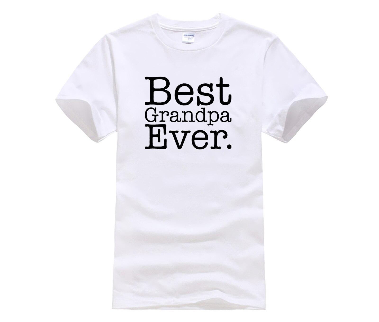 Moda de 2016 para hombre, camiseta estampada con el mejor abuelo de Navidad para hombre, camiseta Casual de manga corta Hipster con personalidad