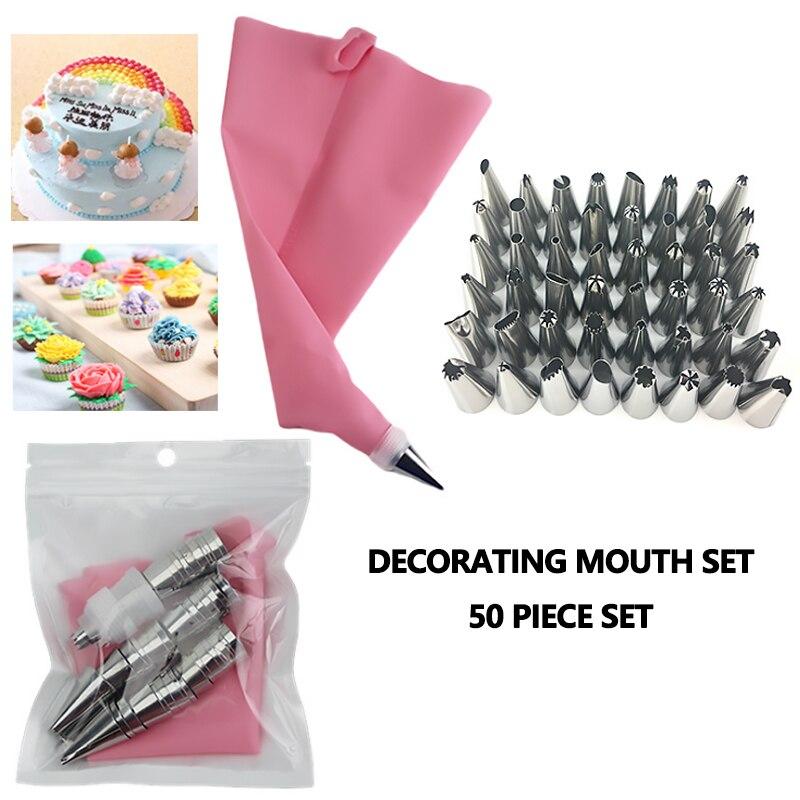 Boquilla DE ACERO INOXIDABLE 48, boquilla para decorar tortas DIY, Set de boquillas para glaseado, boquillas para crema, galletas, utensilios de decoración para hornear, herramientas para Pastel, herramientas