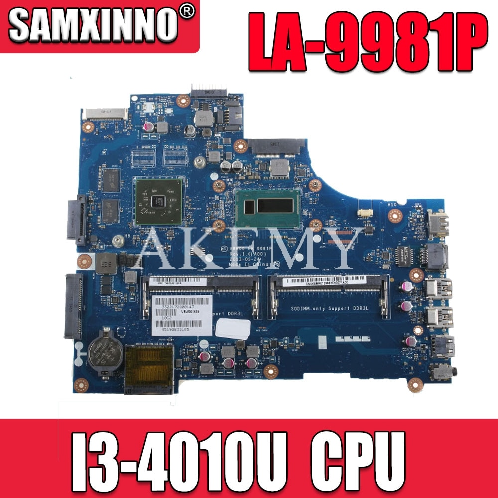 Akemy placa-mãe do portátil para For DELL inspiron 15r 3537 5537 núcleo sr16q I3-4010U mainboard LA-9981P cn-08mvm8 08mvm8 216-0841027