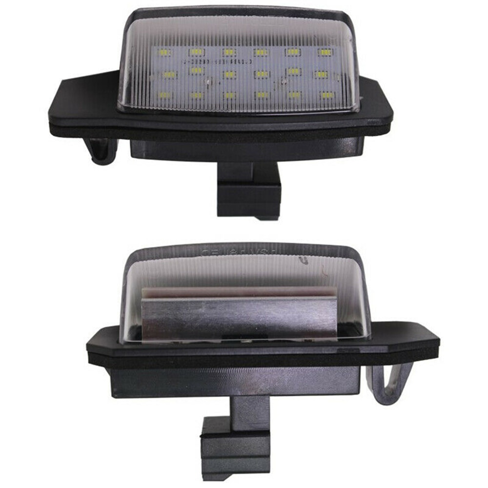 2 piezas de luz de matrícula 12V 3W LED Canbus lámpara blanca adecuado para Mitsubishi Outlander 2006 lámparas de señal de coche