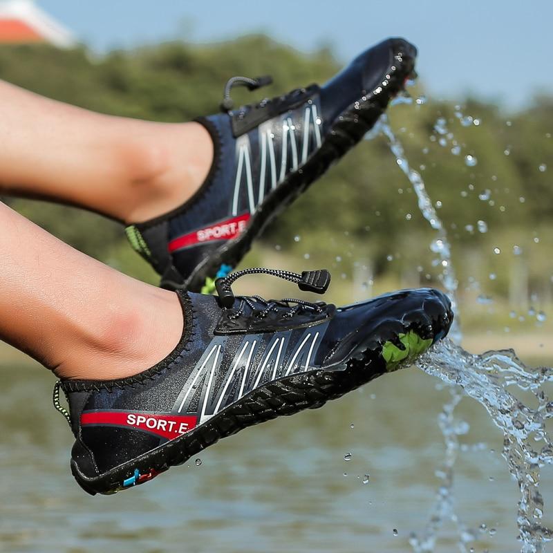 Plus Size 2020 Men Women Aqua Shoes Summer Beach Wading Shoes Swimming Quick-Drying Hiking Non-slip On surf Unisex Water Shoe