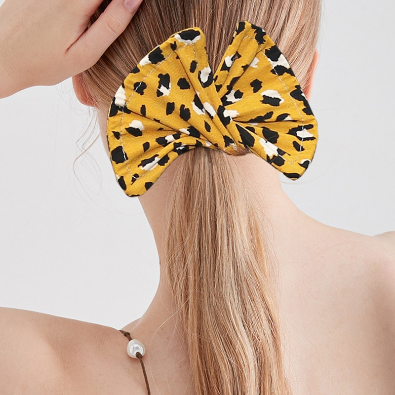 Deft Bun Fashion Hair Bands 9 Colors Women Summer Knotted Wire Headband Print Hairpin Braider Maker Easy to Use DIY Accessories