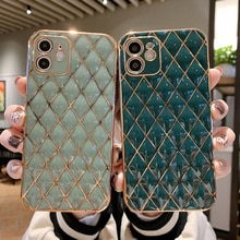Luxury diamond bling plating Soft silicon Phone Case For apple iPhone 7 8 Plus X XS XR MAX 11 Pro 12