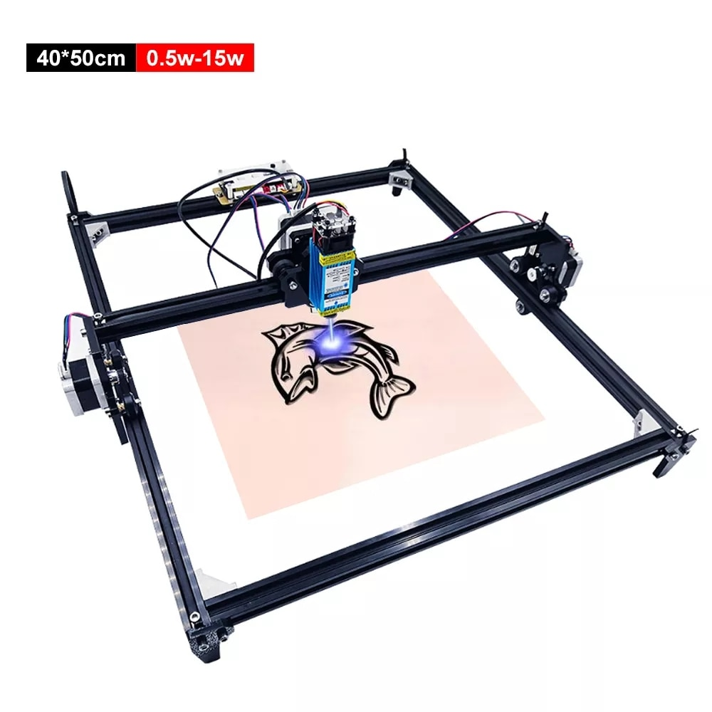 15W 40*50cm Laser Engraver Machine 2 Axis Portable CNC Wood Router Laser Cutting Machine DIY Laser Printer Household CNC Machine enlarge