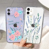 flower case for iphone 11 painted funda for iphone 12 11 pro max xs x xr 7 8 plus 6 6s se 2020 mini cover iphone12 back cover