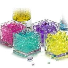100 pièces/sac boue cristal sol Gel Hydrogel   Jouet pour enfants, perles deau, grandir, boules deau, décoration en pot pour maison de mariage G