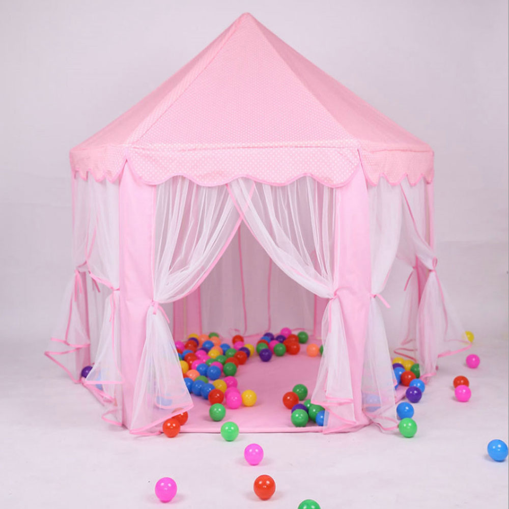Princess Castle Play House Large Outdoor Kids Play Tent Activity Fairy House Fun Beach Playhouse Girls Boys Toy Gift