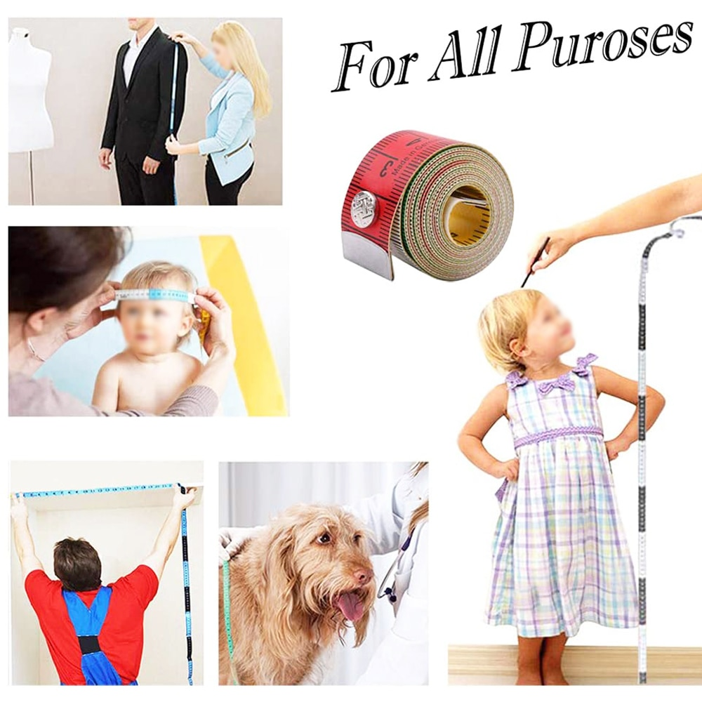 Купить с кэшбэком Tape Measure 60 Inch/150cm Soft Measuring Tape for Sewing Tailor Cloth and Body Measuring Ruler with Snap Fasteners Sewing Tools