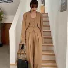 2021 Early Autumn Pants Suit Women New Style Fashionable Leisure Women's Sets Oversized Three Piece