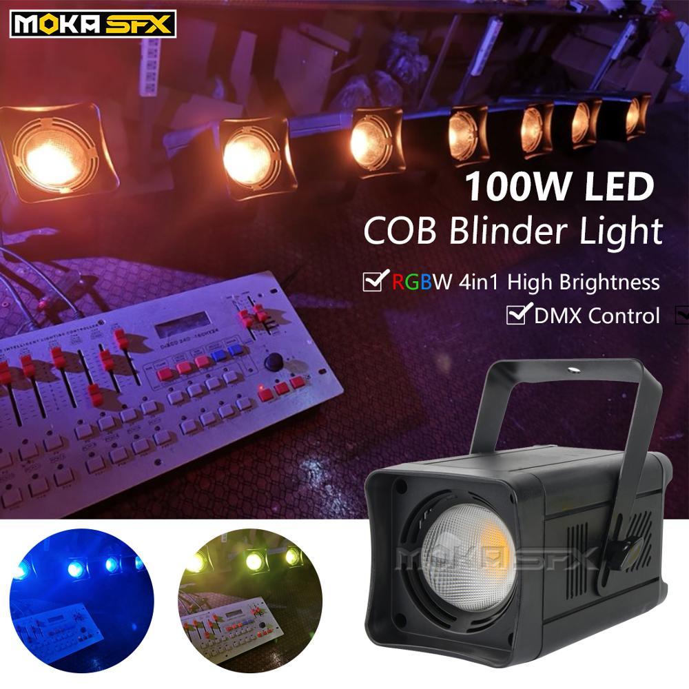 4 unids/lote de luces LED COB de 100W luz para concierto mejor luz de discoteca DMX Luz de escenario COB LED Par 2 en 1/4 en 1 Efecto de escenario de luz opcional