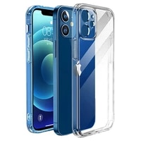 luxury shockproof silicone phone case on for iphone 12 11 pro max transparent case for iphone 11 12 mini camera protection cover