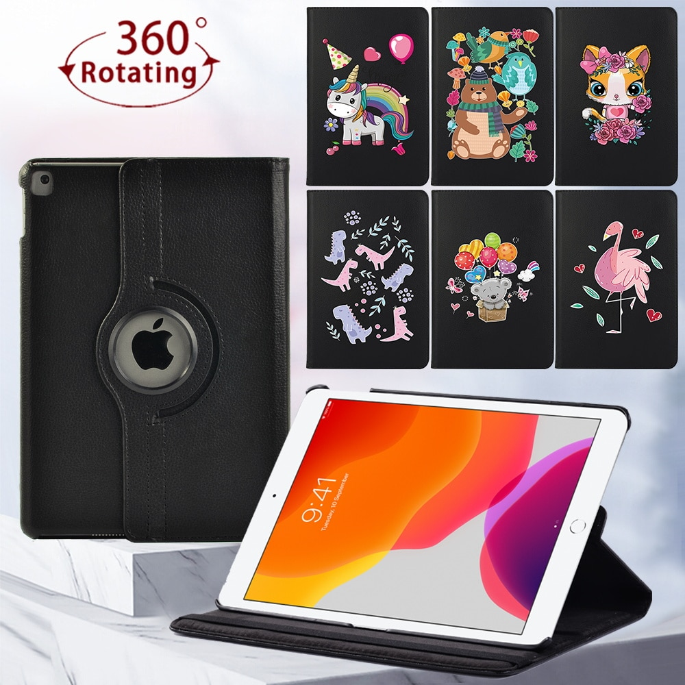 For Apple IPad 2/3/4/ IPad Mini 4/5/iPad 8th Gen/(5th/6th/7th) Gen 360 Rotating Tablet Case Bracket Protective Cover + Stylus