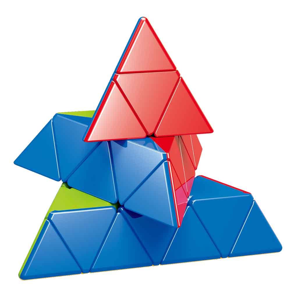fanxin cubo magico piramide 4x4x4 brinquedo para criancas com 4 camadas triangulares 3x3 2x2 duo