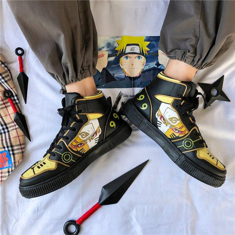 Naruto-baskets de style Hip Hop pour hommes, chaussures de course haute tendance, de voyage, Sasuke, collection chaussures décontractées