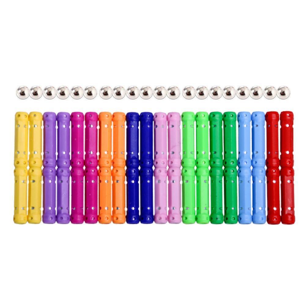 Juego de bloques de construcción magnéticos 107 Uds., juego de barras magnéticas de construcción, barra de juguete con cuentas, juguetes educativos magnéticos para niños, desarrollo K U9B7