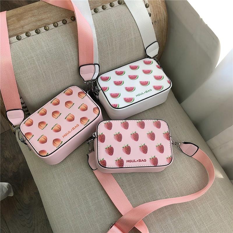 Sommer Obst muster Frauen Tasche 2020 Mini Schulter Tasche Fashion Designer Handtaschen Kleine Cross body Taschen Für Frauen