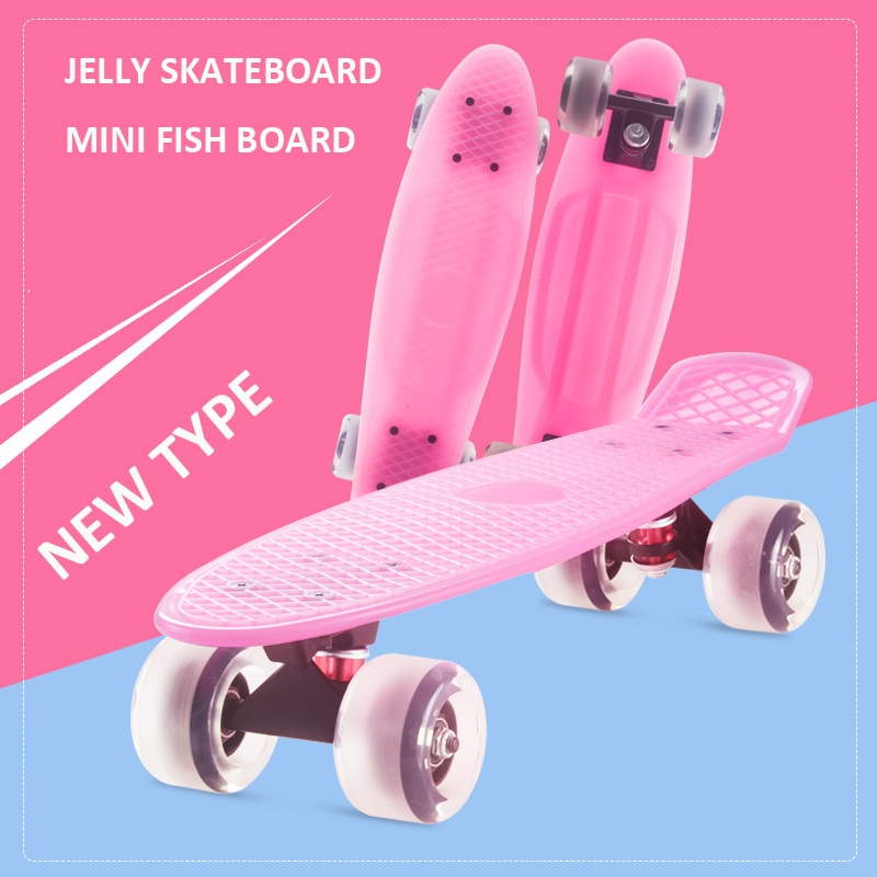 Jelly Pink-monopatín antideslizante de 57x15cm para hombre, patineta con ruedas de PVC,...