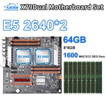 X79 Dual LGA 2011 Motherboard set 2 PCS Xeon Prozessor E5-2640 2,50 GHz Prozessor CPU und 8*8GB 1600MHZ ECC REG Speicher
