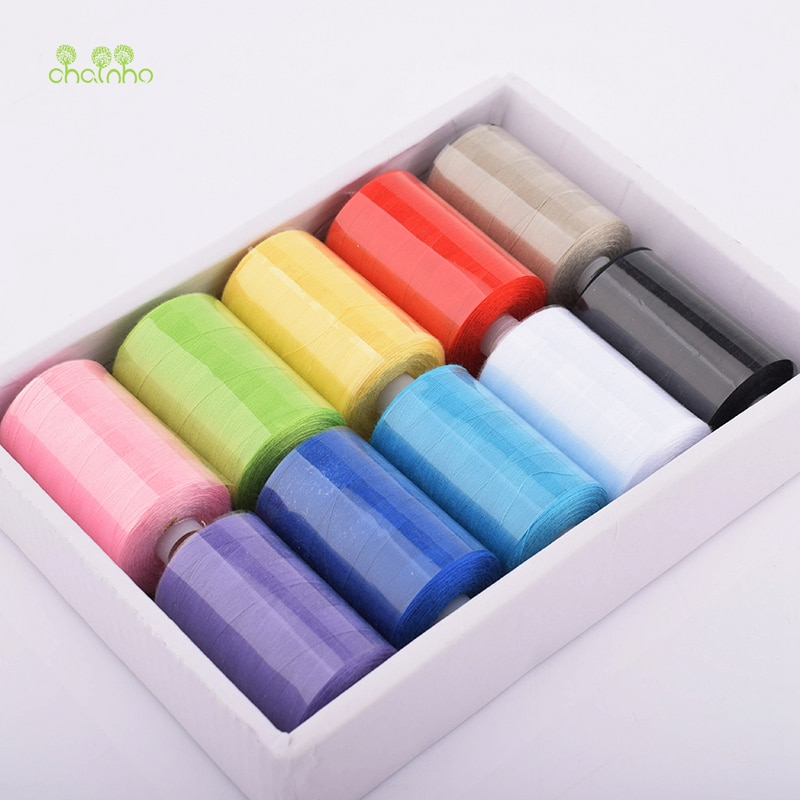 10 Spools/Lot, Multi Color Polyester Thread For Sewing & Quilting,High Quality Sewing Thread Suitable For Needlework & Machine