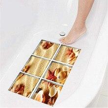 6 pièces imperméable à leau 3D baignoire autocollant antidérapant enfant enfants douche tapis de bain auto-adhésif baignoire salle de bain décalque PVC Mural décor à la maison