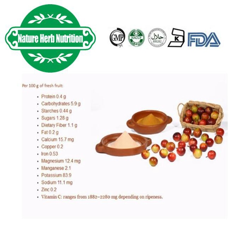 Beauty Skin High Quality Natural Camu Powder with Vitamin C 10:1 14kg Free Shipping